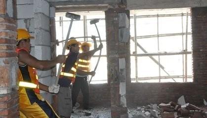 建筑物构件的拆除