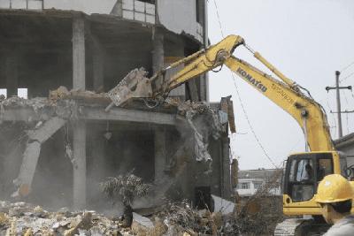 建筑工程拆除施工机械挖掘机