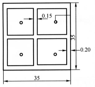 图6-13水池平面布药图(尺寸单位:m)