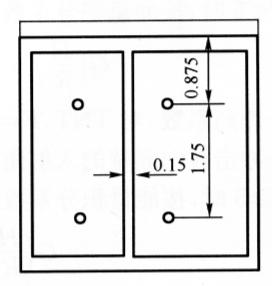 图6-14水池立面布药图(尺寸单位:m)