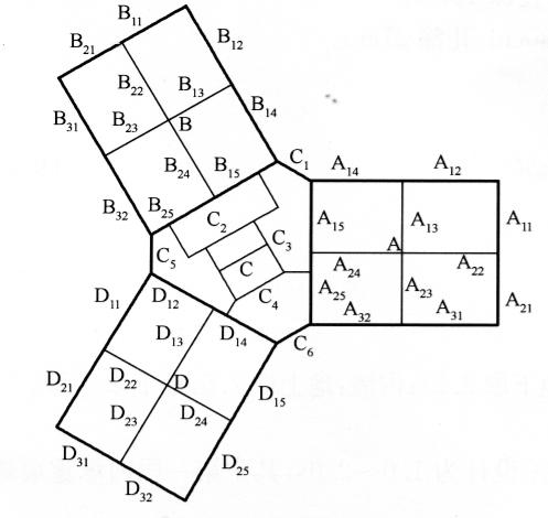 图9-2大楼横断面图