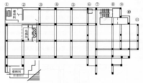 图9-13首层平面结构图