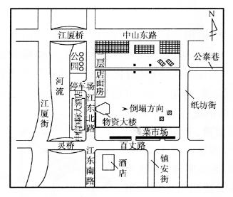 宁波市鄞县物资大厦的拆除爆破