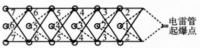 图10-8复式非电起爆网路示意图
