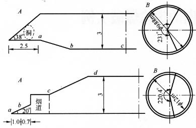 图12-1爆破缺口示意图(尺寸单位:m)