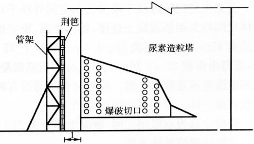 图13-16飞石防护措施(尺寸单位:m)