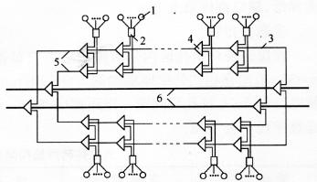 图14-8首阶束状双闭合网路(单元)连接示意图利用破碎镐进行拆除。