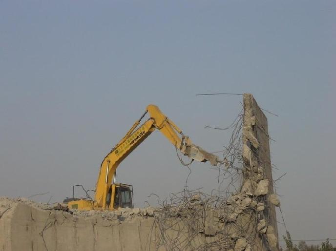 机械拆除,挖掘机拆除