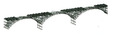图6-5MIDAS中跨桥梁模型离散图