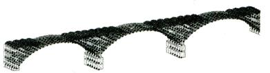 图6-6MIDAS中跨桥梁模型消隐图
