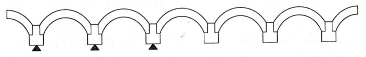 图7-2主跨混凝土应变片测点布置示意图