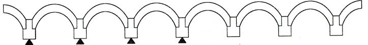 图7-3边跨混凝土应变片测点布置示意图