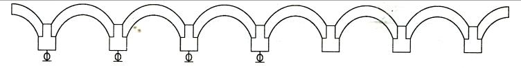 图7-5矿山桥边跨机电百分表测点布置示意图