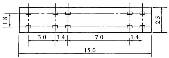 b)平面尺寸