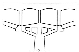 图2-30拱桥悬臂墩