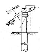 b)桩(柱)埋置式桥台