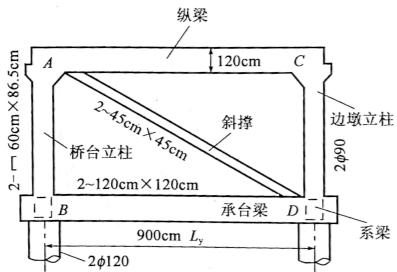 图2-40刚构式组合桥台