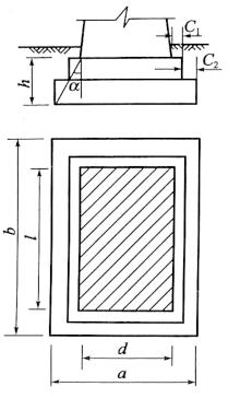 图3-7刚性扩大基础尺寸