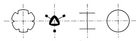 图4-12钢桩截面形状