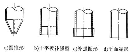 图4-13钢管桩的桩靴形状