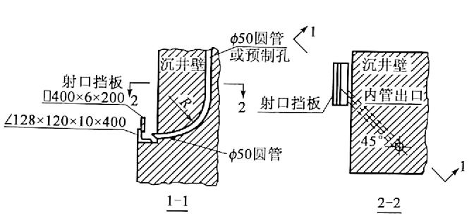 图6-16泥浆射口挡板(尺寸单位:mm)