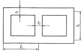 图6-31隔墙计算图示