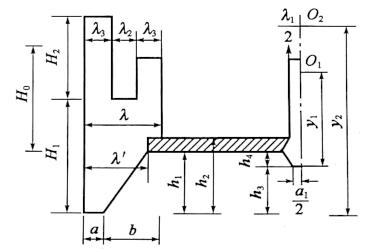图6-35计算浮心位置示例