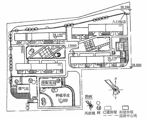 图3-23总平面图1:500