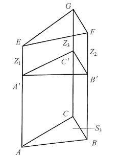 图1-14三棱柱土方量计算示意图