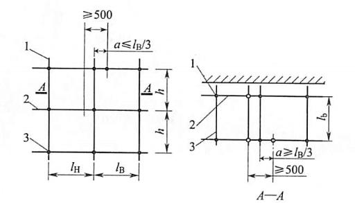 图5-13大横杆接头布置
