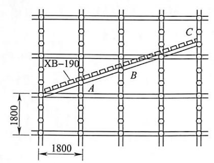 图5-22斜脚手板的设置