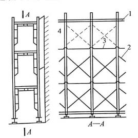 图5-31交叉支撑临时拆除示意图