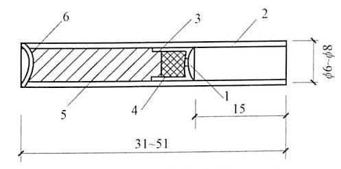 图5-3火雷管构造图(mm)