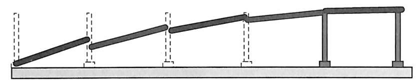 图2-10简支梁桥垮塌形态