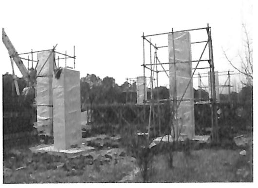 图3-7独立墩柱模型养护成型