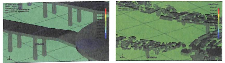 图4-3匝道立柱混凝土单元应力云图