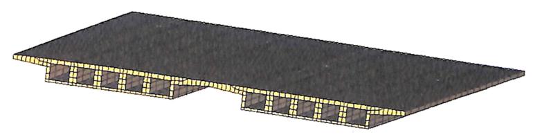 图4-10桥面板网格