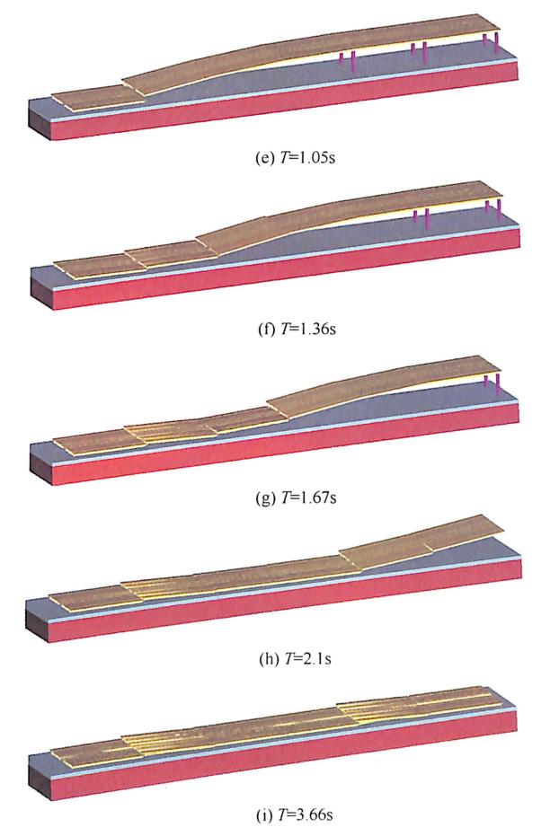 图4-13沌阳高架桥爆破拆除塌落过程数值模拟(续)