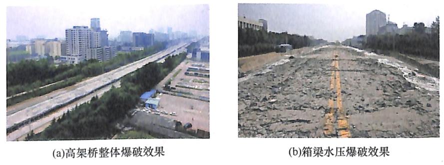 图8-27沌阳高架桥爆破效果