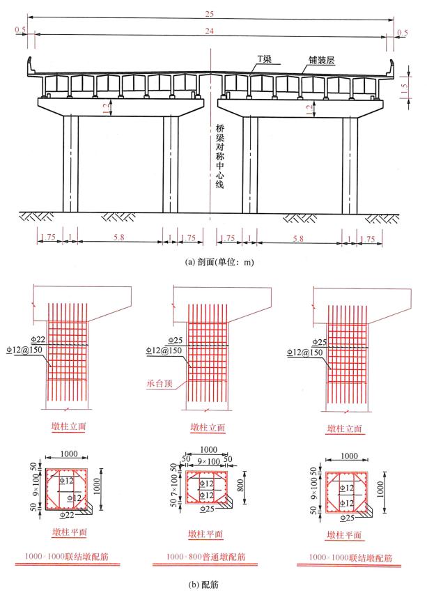 图8-31T梁结构(单位:mm)