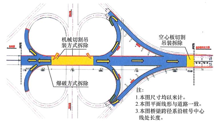 图8-35汪家嘴立交桥总体拆除方案