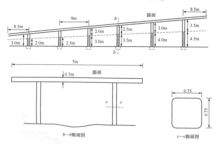 图8-48立交桥简支实体板断面