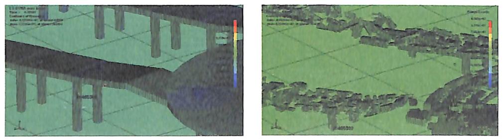 图8-53匝道立柱钢筋单元应力云图