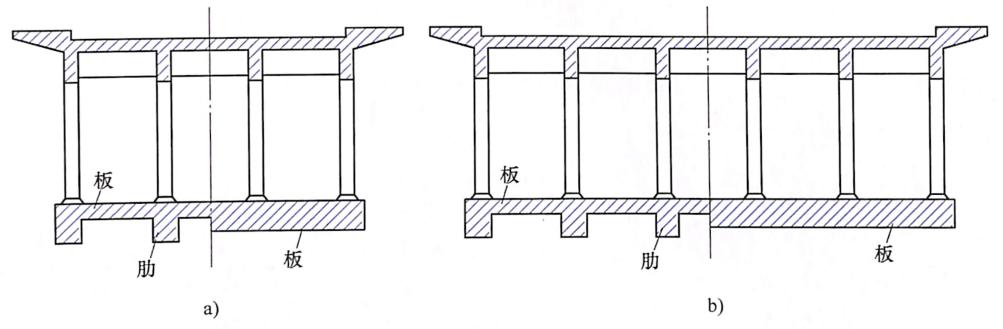 图7-15钢筋混凝土板拱截面