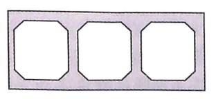 图7-24单箱多室截面