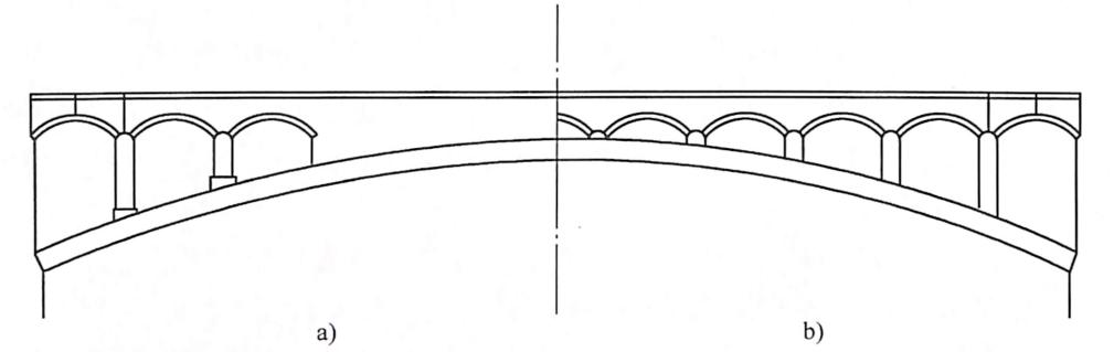图7-30拱式腹孔布置
