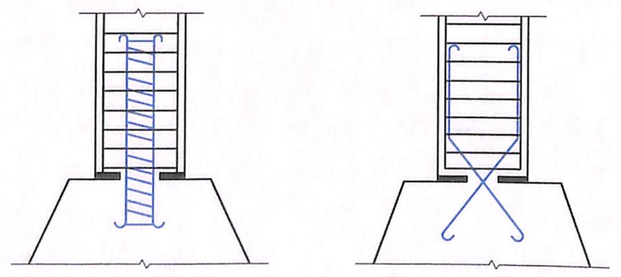 图7-40腹孔墩或立柱端铰构造
