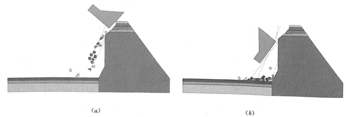 图3.2三峡工程三期上游RCC围堰原型爆破倾倒过程数值模拟