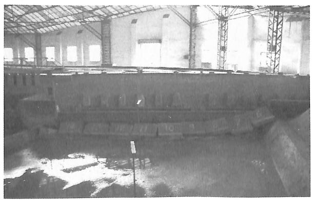 图3.12无水条件下堰块整体倾倒后的形态
