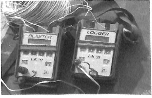 图3.37第2次试验所使用的数码雷管起爆系统